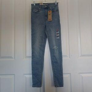 Nwt Levi's Mile High Rise Super Skinny Jean